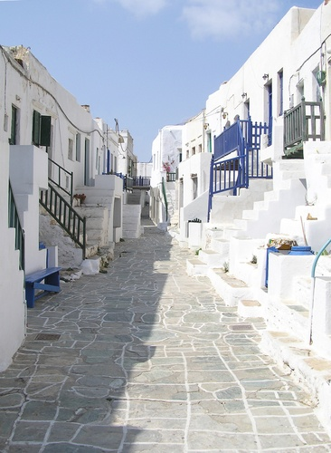 Greece, Street in Folegandros, Cycladic Island