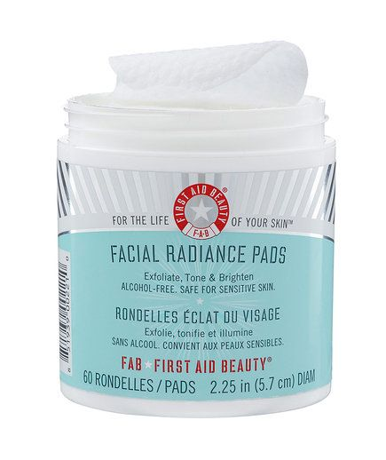 First Aid Beauty Facial Radiance Pads | As a beauty editor, I get sent a lot of free products to review (tough job, I know). But there are some gems I've found over the years that are worth every penny—even if that means spending my own money on them. I asked my fellow Time Inc. (Real Simple's parent company) beauty editors to share their most beloved beauty products and why they're so great.