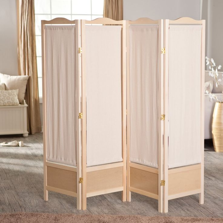 Brooks Canvas 4 Panel Room Divider - Natural - Room Dividers at Hayneedle