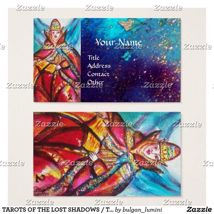 TAROTS OF THE LOST SHADOWS / THE HIGH PRIESTESS BUSINESS CARD #tarot #astrology #psychicreader #ritual #tarots #cartomante #fineart #watercolor #artprints