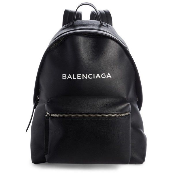 Women's Balenciaga Everyday Calfskin Backpack (101.375 RUB) ❤ liked on Polyvore featuring bags, backpacks, backpack, quilted bag, rucksack bag, backpack bags, pebbled-leather bags and strap backpack