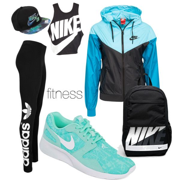 be fit .level up by georgiahondromara on Polyvore featuring polyvore beauty NIKE adidas Originals
