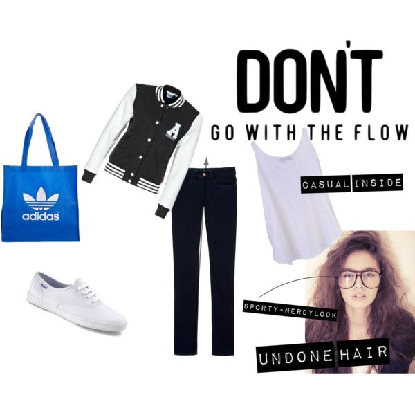 Collegesportslook, created by m-thuy on Polyvore: M Thuy, Collegesportslook, Summer, Polyvore, Spring