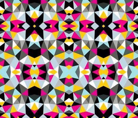 Comic Book Tribal fabric by beththompsonart on Spoonflower - custom fabric