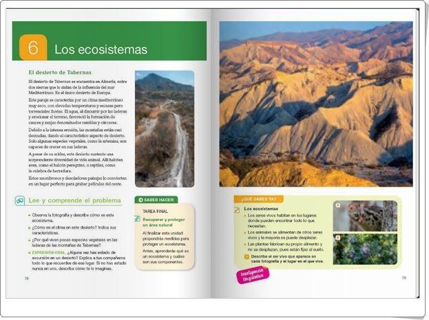 """Unidad 6 de Ciencias de la Naturaleza de 4º de Primaria: """"Los ecosistemas"""""""