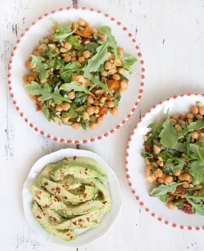 Chickpea, Sun-Dried Tomato and Artichoke Salad | Deliciously Ella