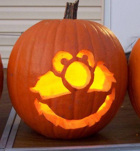 Elmo Pumpkin Template