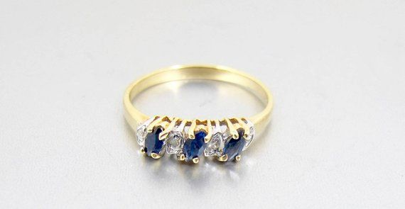 Your Place To Buy And Sell All Things Handmade Sapphire Diamond Ring Yellow Gold Sapphire Sapphire Ring