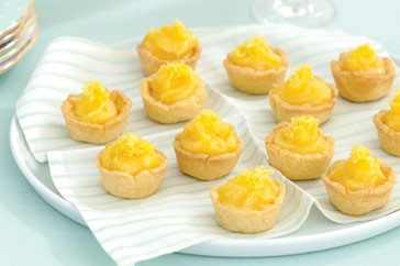 Lemon Curd tarlets - I'll make them one day, with lots more lemon!