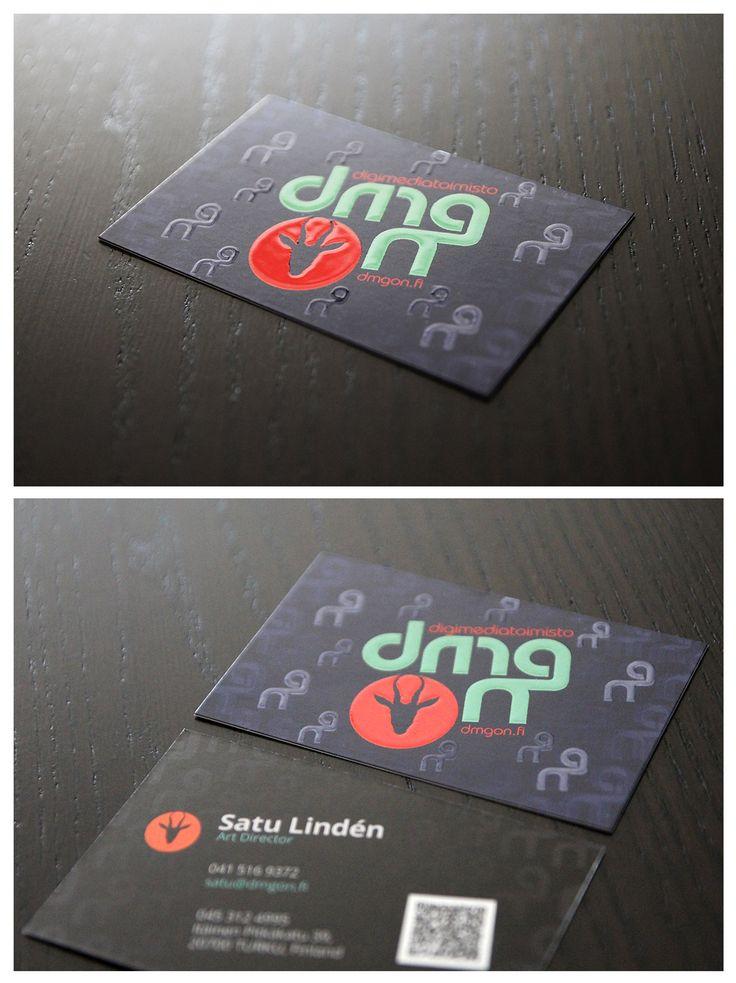 Business Cards with Spot Varnish by DmgON.  DmgON käyntikortit kohdelakkauksella.  #BusinessCards #SpotVarnish #SpotGloss #DmgON #Käyntikortti #Kohdelakkaus   www.dmgon.fi