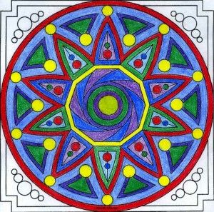 Circle Mandala.  Adult coloring is more than just coloring.  It can be a part of a spiritual discipline.