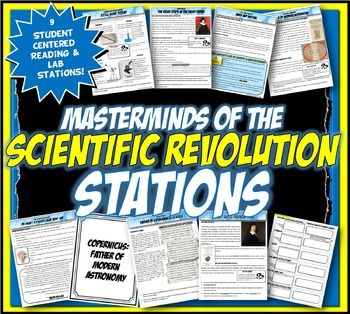 This content rich activity is student centered and interactive! This masterminds of the Scientific Revolution reading and mini-lab stations activity has 9 stations with close readings, analyzing key scientists and innovations. The key scientists covered are: Renee Descartes, Isaac Newton, Galileo, Kepler, Francis Bacon, Tycho Brahe and Copernicus.