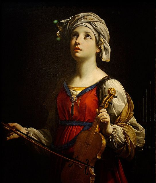 Guido Reni - Saint Cecilia [1606].  Seeing this painting up close gives me goose bumps.  What a masterpiece!