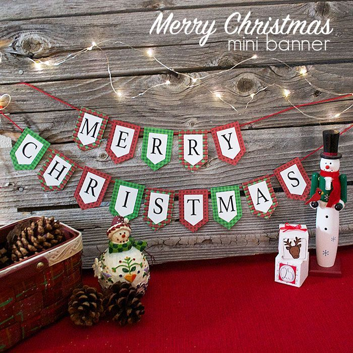 Print this free Merry Christmas banner for your home this holiday season. You will love the plaid borders around the letters!