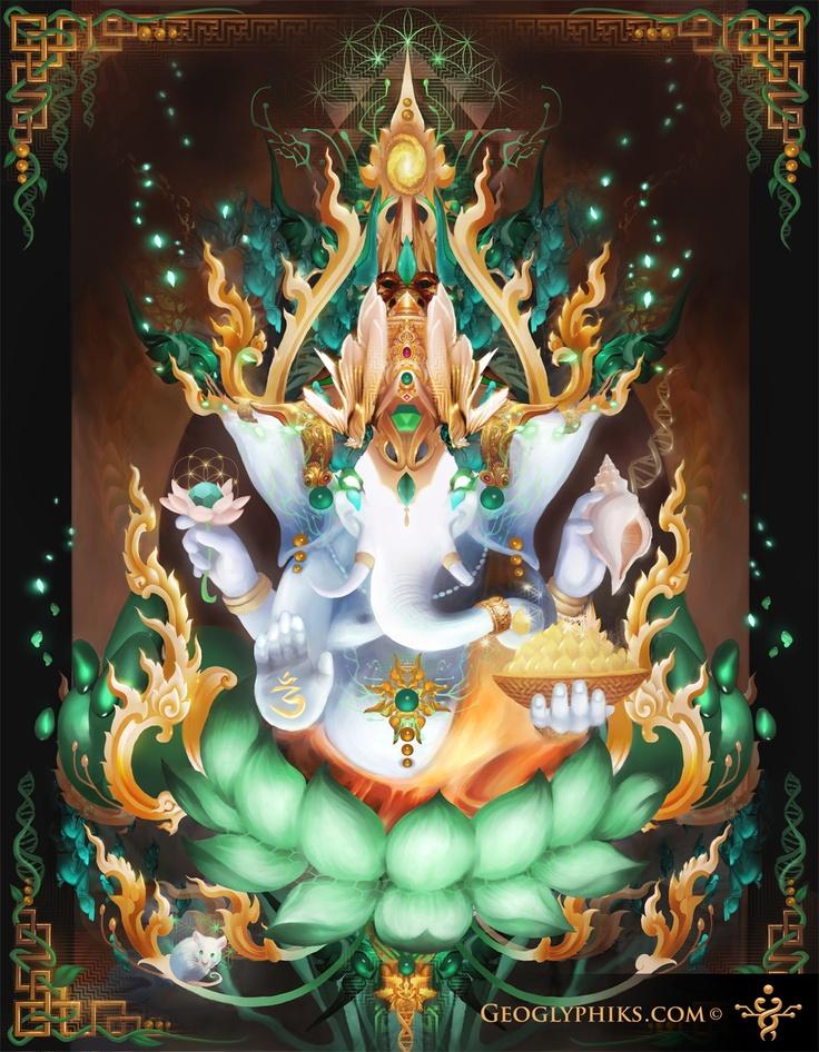 Galactik Ganesh by Geoglyphiks - Visionary Art