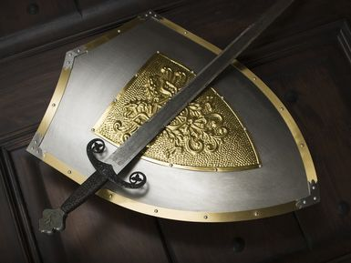 The Sword of the Spirit represents the Bible, our weapon against Satan.