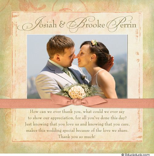 Sweet Bridal Photo Thank You Cards Wedding Personalized