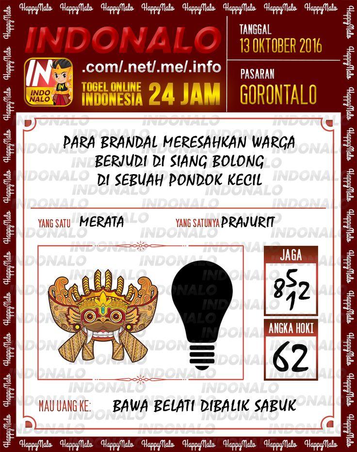 Colok Angka SDSB Togel Online Live Draw 4D Indonalo Gorontalo 13 Oktober 2016