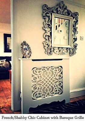 French Style - Shabby Chic - Radiator Cabinet/Cover -Ornate Fancy Baroque Grille in Home, Furniture & DIY,Heating, Cooling & Air,Radiator Covers | eBay