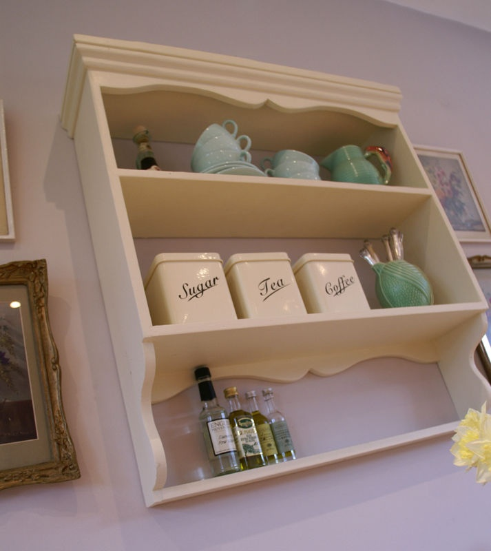 Details About Vintage Country Cotswold Kitchen Shelves Painted