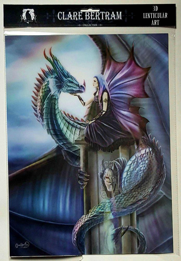 Brand New Licensed 3D Lenticular Art Clare Bertram Iridescence Dragon Print