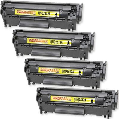 InkGrabber.com FOUR PACK - Remanufactured HP Q2612A (12A) Black Laser Toner Cartridges (HP LaserJet 3050, HP LaserJet 3030, HP LaserJet 3020, HP LaserJet 3015, HP LaserJet 1012, HP LaserJet 1018, HP LaserJet 1020, HP LaserJet 1022, HP LaserJet 1022N, HP LaserJet 1022NW, HP LaserJet 3055, HP LaserJet 3052, HP LaserJet M1319F MFP, HP LaserJet 1010, HP LaserJet 1015, HP LaserJet M1319, HP LaserJet M1005-MFP)