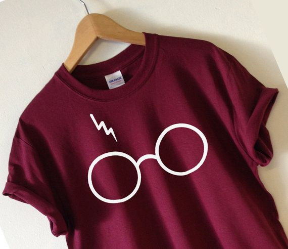 HARRY POTTER INSPIRED GLASSES AND LIGHTNING T-SHIRT  SCREEN PRINTED FOR A SUPERIOR RETAIL QUALITY FINISH  Available in Unisex super soft T-shirt in a
