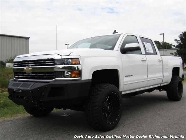 2015 Chevrolet Silverado 2500 HD LT 6.6 Duramax Diesel Lifted Crew Cab Short Bed $47,995  - Visit www.davis4x4 for more information and to view more inventory.