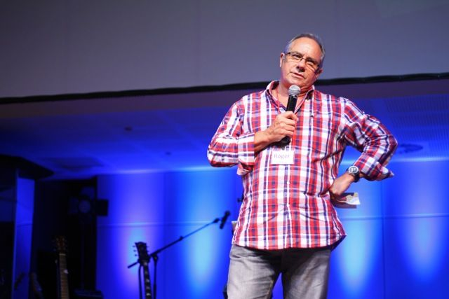 Host church pastor Roger Greig