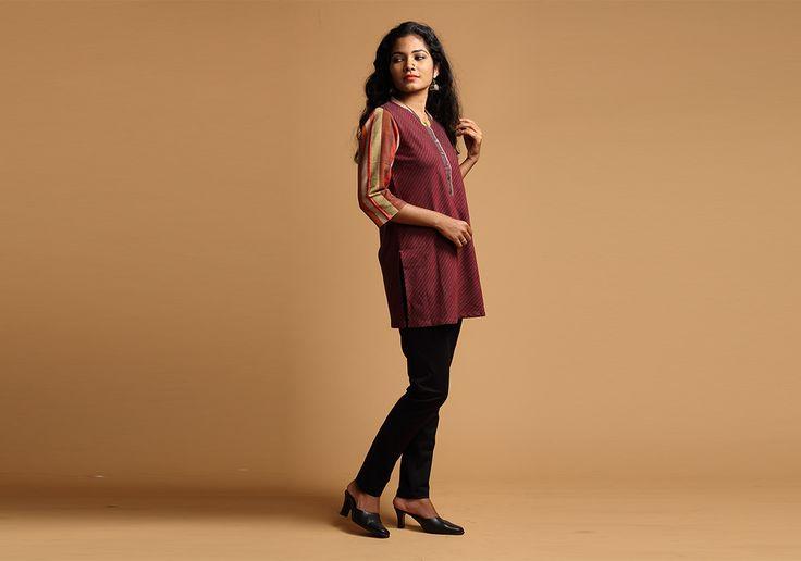 Tunics for women - Striped Ikat Tunic by Seamstress PC 16259 - Main