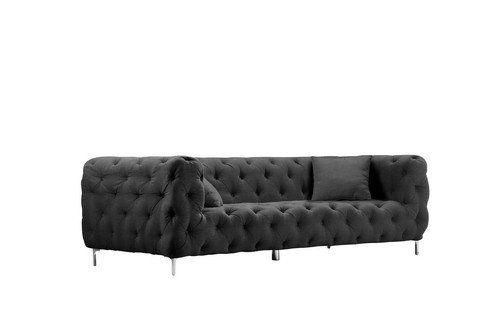 Pangea Home Z Midnight Black Battista 3 Seater Sofa With Images Seater Sofa Sofa Best Sofa