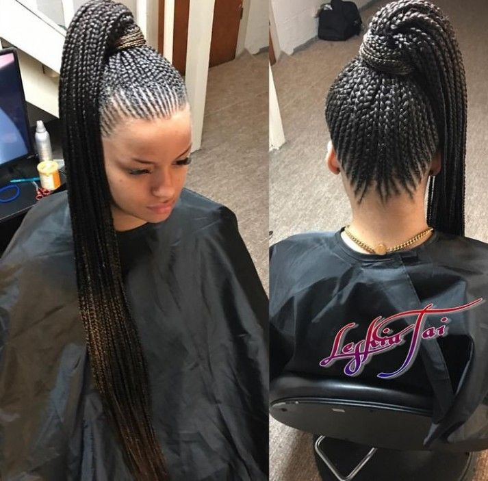 Carrot Braids Hairstyle In 2020 Braided Ponytail Hairstyles African Braids Hairstyles Ponytail Hairstyles