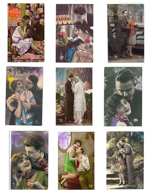 Lots of free printables - Vintage Couples by PaperScraps, via Flickr