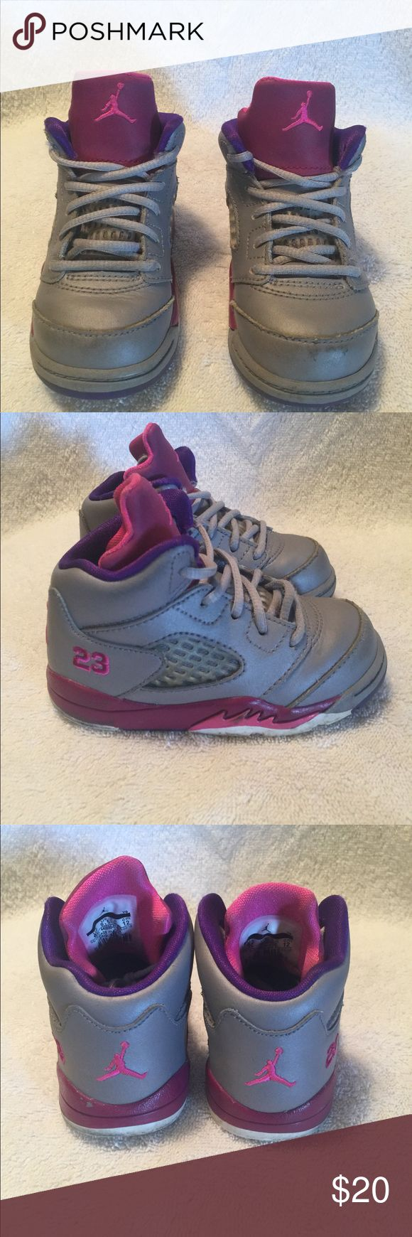 Toddler Jordan 5's Good condition toddler Sneakers Air Jordan Shoes Sneakers