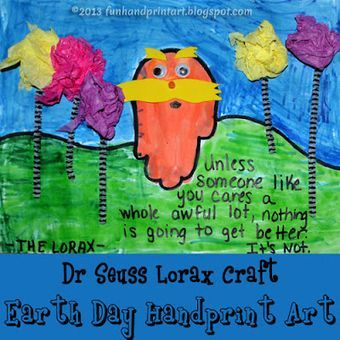The Lorax handprint craft