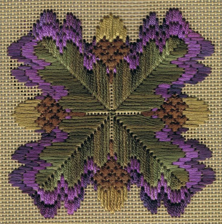 bargello style oak leaf cluster