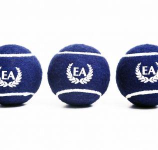 Printed Tennis Balls Blue