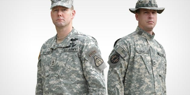 """U.S. Army Combat Uniform applied with the Universal Camouflage Pattern (© U.S. Army, PEO Soldier, https://peosoldier.army.mil) After eight years and a reported five billion in development, the U.S. Army is ditching its pixelated-looking uniform in favor of something that doesn't look like it was borrowed from the """"Contra"""" Nintendo game."""