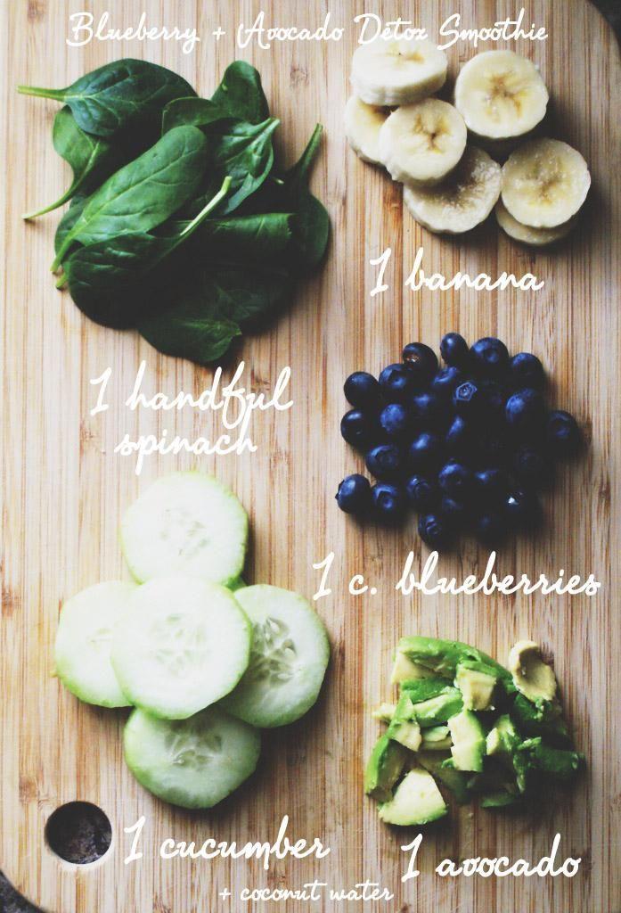 How to Build a Blueberry Avocado Detox Smoothie #blueberry #avocado #detox #smoothie #greens