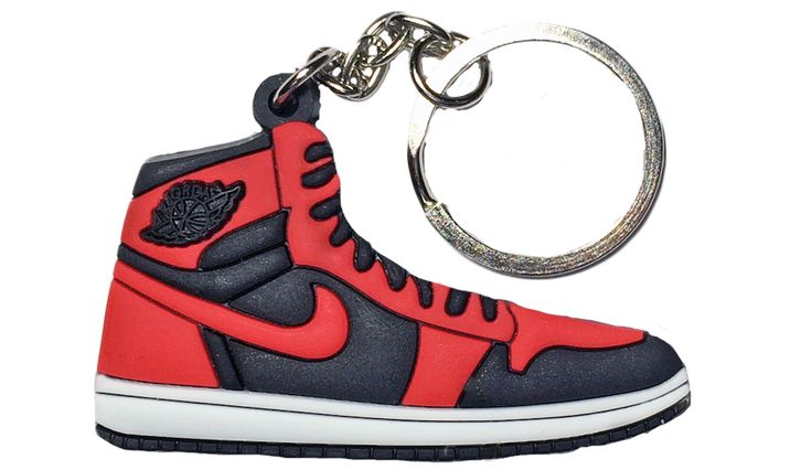 "Nike Jordan 1 Red Black ""Infrared"" 2D Flat Keychain"