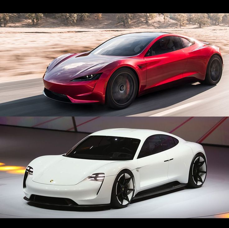 Tesla Roadster vs Porsche Mission e  These 2 look almost the same.  Is Porsche cooperating with Tesla. Maybe the same platform . The price is some difference Tesla $250.000 vs Porsche $85.000 USD  can buy 3 Mission e  instead of the Roadster but will lose 26sec from 0-100km/h so is it worth $165.000 more to get from 0-100 in 19sec  instead of 32sec ? #tesla #teslaroadster #teslamotors #porsche #missione #ev #electriccar #thefuture . WHY #hybrid #car /#volvo #volvo #polestar #Polestar1…