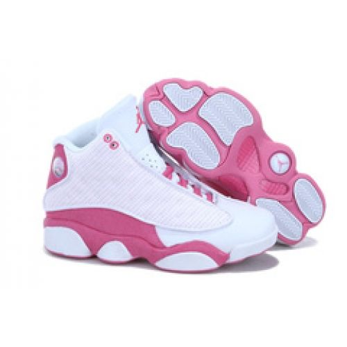 pink and white jordan shoes 13 for womens girls cheap online sites