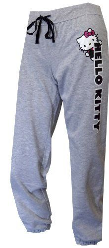 Hello Kitty Classic Gray Ankle Length Capri Lounge Pant for women:Amazon:Clothing