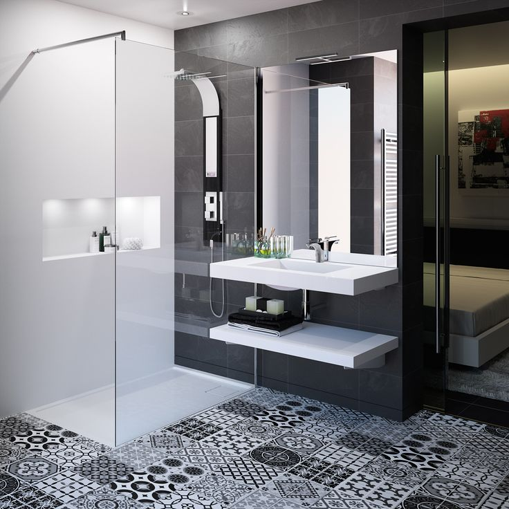 Meubles de salle de bain cedam gamme extenso sur mesure tendance noir et b - Meuble salle de bain casto ...
