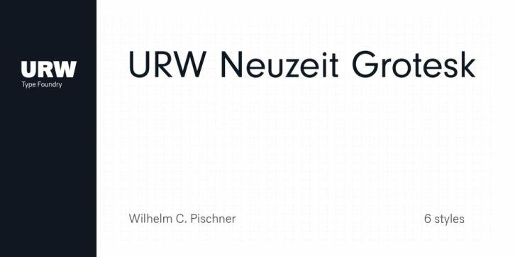 Urw Neuzeit Grotesk Font Download Font Fonts Typography