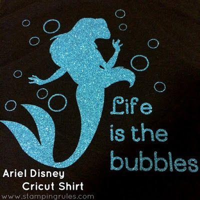 Stamping Rules!: Day 131: Ariel Disney Cricut Shirt