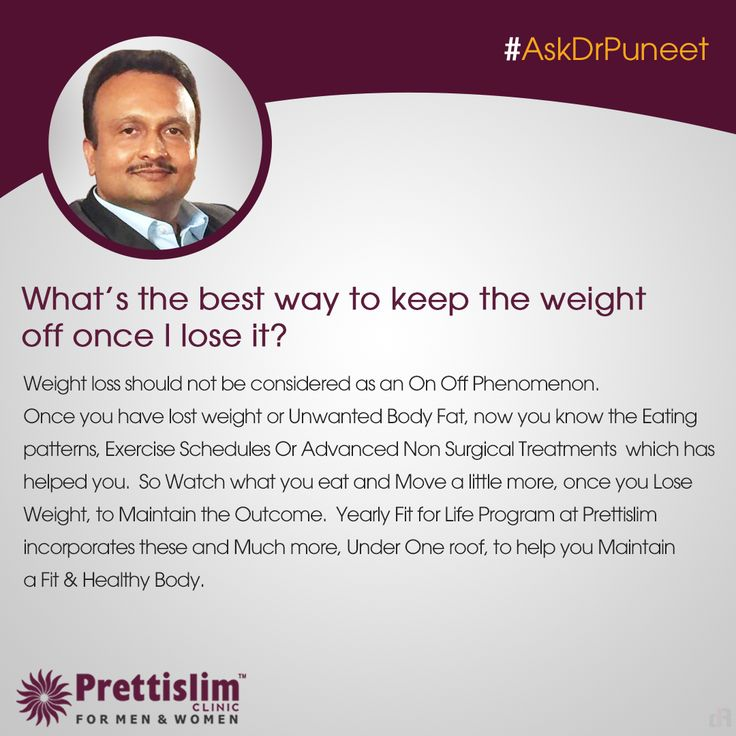 Wondering about Maintaining Health or Weight Loss? Send in your queries with #AskDrPuneet, and our MD will answer a new question every Thursday! 8080812201 | www.prettislim.com