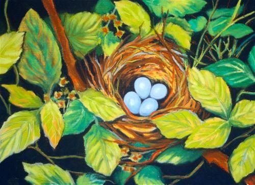 """Sky Blue"" - Original Fine Art for Sale - © Jill Bates: Dailypaintwork Com Fine, Pastel"
