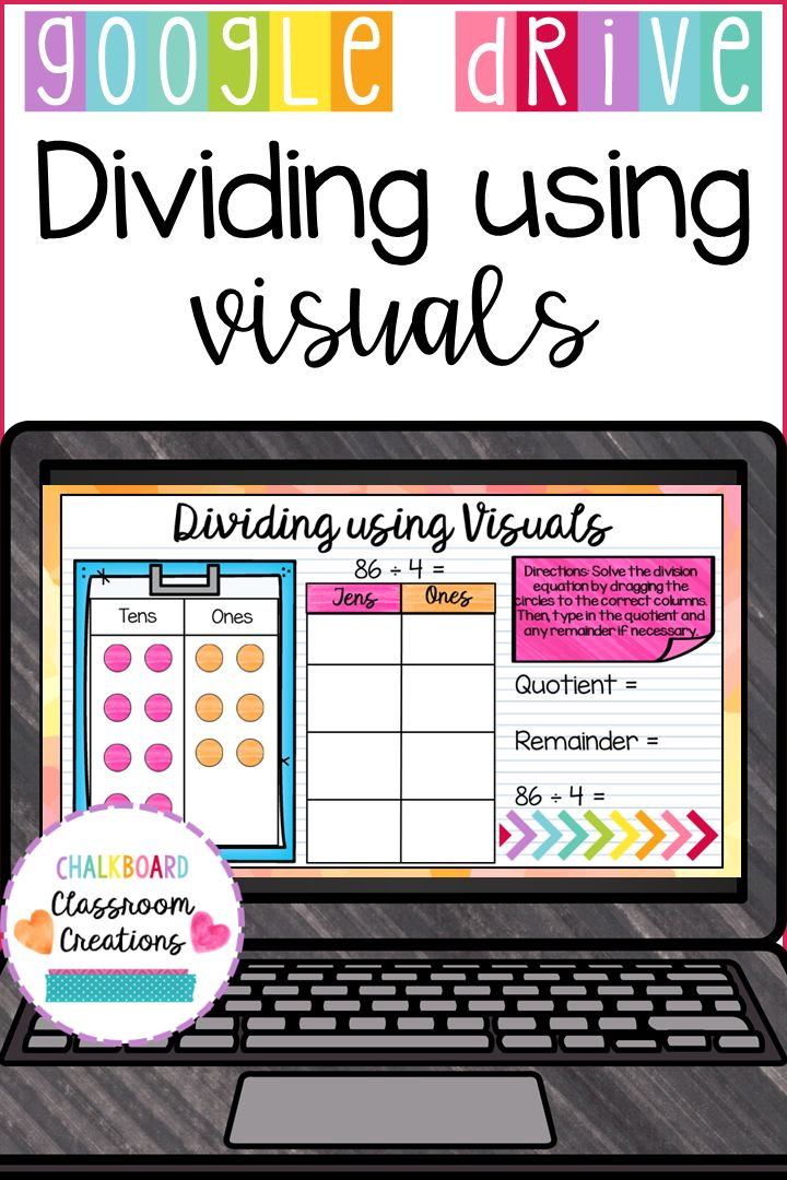 4th Grade Dividing using Visuals for Google Classroom 4.NBT.B.6