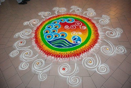 rangoli kolam and peacock kolam designs without dots in bharatmoms.com